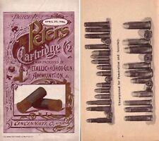 Peters 1896 Cartridge Co. Metallic and Shot Gun Ammunition