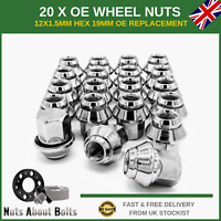 20 x Alloy Wheel Nuts M12x1.5 OE Style For Ford Focus ST RS MK1 MK2 MK3 MK4