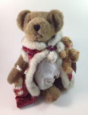 """Sasha & Nicholas Christmas Bear Plush With Stand 15"""" 2003 Nwt"""