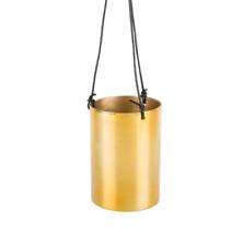 Tall Brass Hanging Planter Metal Vintage Shabby Chic Kitchen Decoration