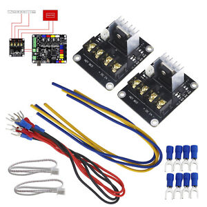 Upgrade MOSFET Board For 3D Printer Heated Bed Power Current Load Module 2pcs