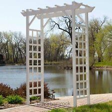 New listing Garden Arch White Arbor Pergola Backyard Patio Wedding Archway Landscape Decor