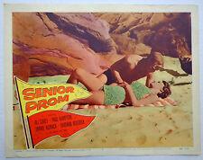 Senior Prom movie lobby card poster vtg 1958 teenage love rock n roll