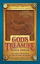 NIV God's Treasure Holy Bible, Imitation Leather, Dark Tan: Golden Promises and