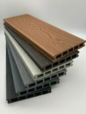 More details for 3.6m composite wpc decking boards - deep embossed woodgrain plastic boards