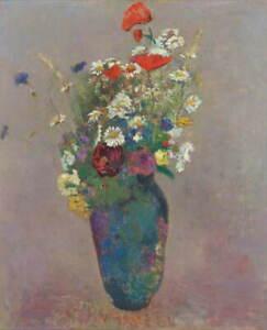 Odilon Redon Vision Vase Of Flowers Giclee Art Paper Print Poster Reproduction