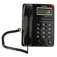 LCD Corded Phone Home Line Telephone Office Business Hanging Caller ID Black
