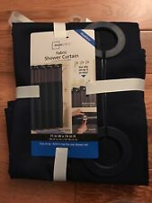 Hookless Escape 71-Inch x 74-Inch Fabric Shower Curtain and Liner Set Slate Blue