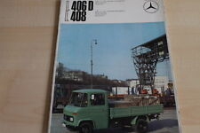 105342) Mercedes LKW L 406 D 408 Prospekt 01/1968