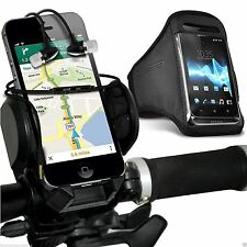 Quality Bike Bicycle Holder+Sports Armband Case Cover+In Ear Headphones✔Black