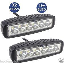 2 X FARO SUPPLEMENTARE PROFONDITA AUTO FUORISTRADA 12V 18W 6 LED