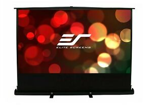 """ELITE SCREENS F120NWH 120"""" PORTABLE FLOOR PULL UP PROJECTOR 16:9 HD COMPACT"""