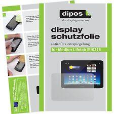 2x Aldi Medion Lifetab E10316 Schutzfolie matt Displayschutzfolie Folie dipos