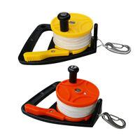 Pack 2 Scuba Diving Dive Reel & Handle, Thumb Stopper, Line, Clip Equipment