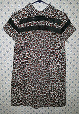 YOU Leopard Peter Pan Collared Shift Dress LF STORES Size XS Summer Frock