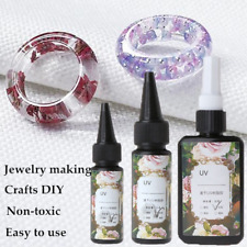 10/25/50g UV Resin Epoxy Jewelry Making Transparent Hard Quick Solidify Crafts