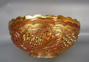 "Imperial GRAPE Marigold Carnival Glass 7¼"" Round Bowl 7745"