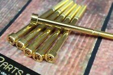 Zylinderschraube mit Innensechskant M8x80 GOLD vergoldet M8 Schraube 24-Karat