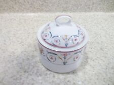 Mikasa Maxima Cam 06 Sping Tribute Sugar Bowl with Lid Pink Band Blue Pink Flowe