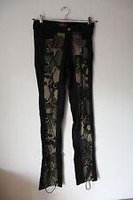 String Pants Denim Schwarz/Camouflage von Aderlass, Größe 28 (Gothic/Punk/Indie)