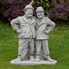 LAUREL AND HARDY Garden Statue Ornament Cast Stone Home Patio Decor ⧫onefold-uk