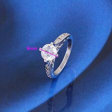 Equisite18k White GF Zircon  Women's Ring crystal  cluster-Size 5