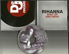 RIHANNA Shut Up and Drive EDIT & INSTRUMENTAL PROMO DJ CD Single 2007 USA MINT