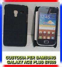 Pellicola + custodia back cover NERA per Samsung Galaxy Ace Plus S7500 (H8)