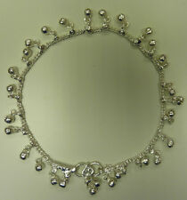 One White Metal Silver Coloured Indian Anklet - Lots of Small Bells! (AK10)