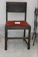 SEDIA ANTICA IN LEGNO  - POLTRONA D'EPOCA DA STUDIO - ANTIQUE COUNTRY CHAIR