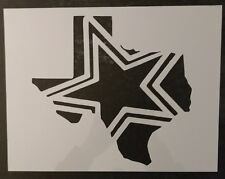 "State of Texas Dallas Cowboys Star 11"" x 8.5"" Custom Stencil FAST FREE SHIPPING"