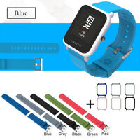 Silicone Wrist Strap PC Shell Cover For Xiaomi Huami Youth Watch--
