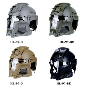 Outdoor Airsoft Helmet Motorbike Sports Paintball Full Face Army Tactical Mask