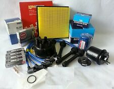 Cap-Rotor-NGK Wires-Spark Plug-Oil-Air-Fuel-Filter Tune Up Kit Honda CRV 99-01