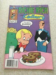 Richie Rich & Cadbury The Perfect Butler 28  Fine-  5.5  Harvey Comics