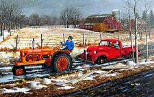 "Spring Thaw By Ken Zylla Farm Tractor Truck Print SN   28"" x 18"""