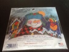 Whimsies by Dimensions Snowman Birds Cross Stitch Todd Trainer Christmas Holiday