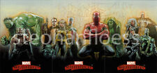 2007 Marvel Masterpieces Splash Page 3 Card Panel Set Drew Struzan X-Men