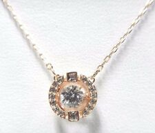 SPARKLING DANCE ROUND NECKLACE, WHITE -ROSE GOLD 2017 SWAROVSKI JEWELRY #5272364
