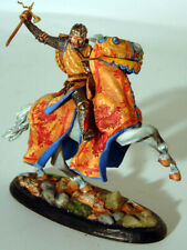 Painted Tin Toy Soldier Horseman Knight #11 54mm 1/32