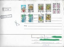 Russia stamps on registered mail 1999 /francobolli russi su raccomandata -b03