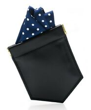Pocket Square Holder & Mens Fashion Accessory Handkerchief round Pre Fold Keeper