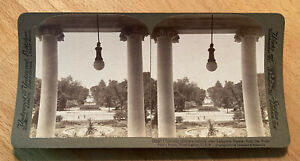 Lafayette Square from the President's Home Washington DC 1904 Stereoview Slide