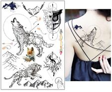 Set Small Temporary Tattoo Stickers Body Art Waterproof Diamond deer feather