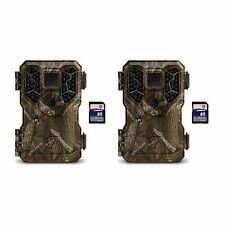 Stealth Cam Px36Ng 8Mp No Glo Infrared Trail Game Cameras (2 Pack) + Sd Cards