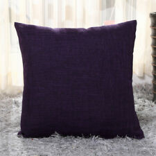 Vintage Cotton Linen Pillow Case Sofa Waist Throw Solid Cushion Cover Home Decor