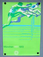 Plakat Olympische Spiele München 1972 Ottl Aicher DIN A1 Olympia Poster Hürden