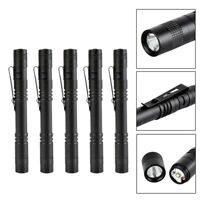 5Pcs XPE LED Flashlight Clip Penlight Mini Portable Light Pen Torch Lamp Outdoor