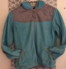 North Face Hooded Full Zip Jacket •BLUE/GRAY• Girls LARGE 14/16
