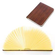 Wooden Folding LED Book Light USB Rechargable Book Lamp Desk Table Light 4Colors